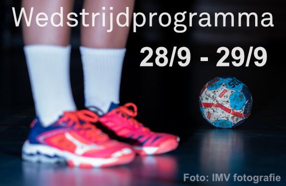 Wedstrijdprogramma 28-29 sept