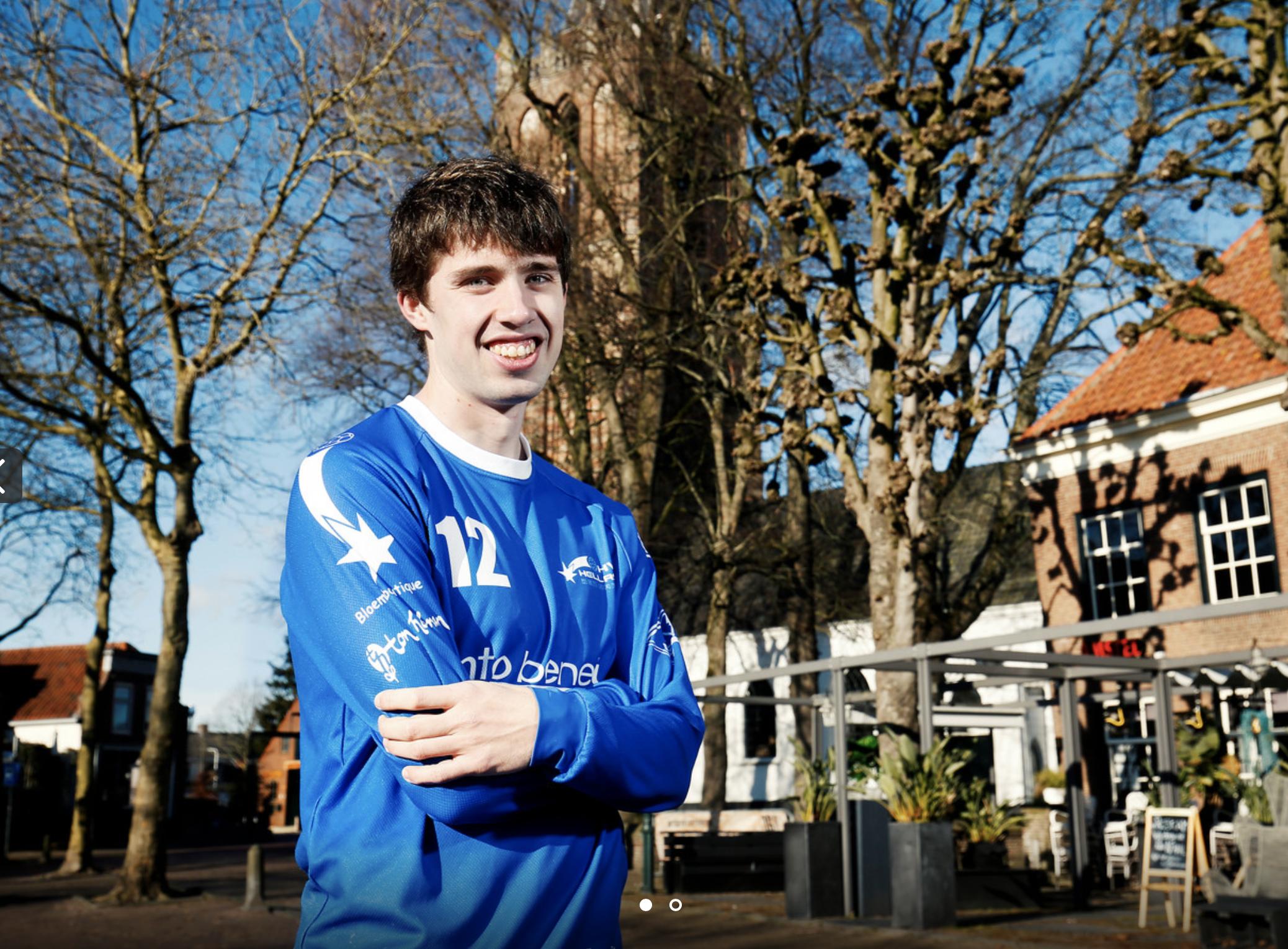Hellas-handballer Caspar heeft autisme: 'Zware tijd, want ik mis regelmaat doordat handbal wegviel'